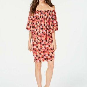 Thalia Sodi Printed Popover Dress
